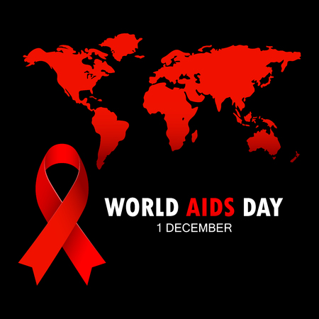 illustration vectorielle de la ligne du sida sida . signe de ruban rouge