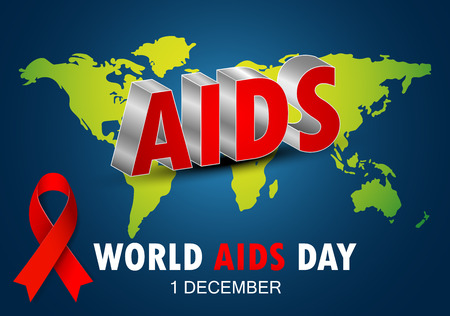 Vector illustration of World AIDS Day. Red Ribbon Sign