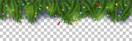 Wektorowa ilustracja kartki bożonarodzeniowa tło z jedlinowymi gałąź i sosnowymi rożkami Ilustracje wektorowe