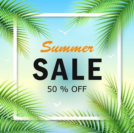 Vector illustration of Summer sale background