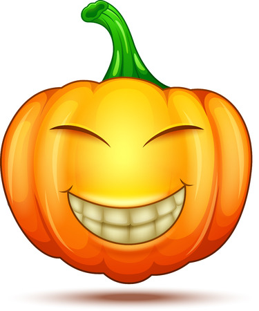 Halloween pumpkin cartoon emoticon