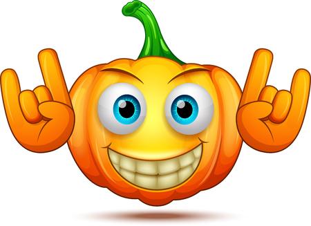 Halloween pumpkin cartoon emoticon