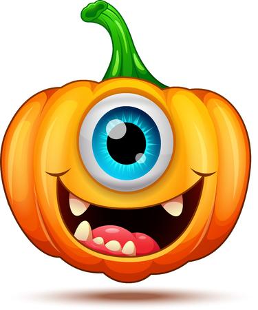 Funny pumpkin characters
