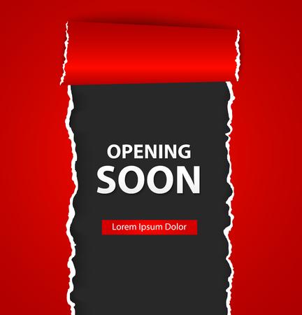 Eröffnung bald mit Papierschild