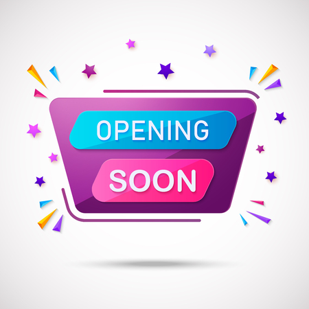 Illustration of Opening soon composition with flat design