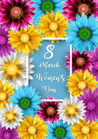 Illustration of Womens Day, March 8. Happy Mothers Day
