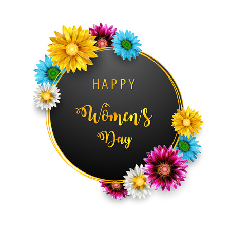 Vector Illustration Of Women's Day, March 8. Happy Mother's Day Stock fotó - 116341495