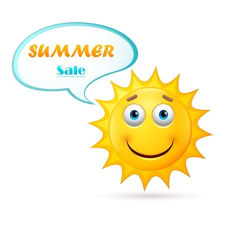 Summer sale design with Sun Face