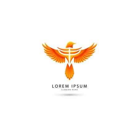 Vector illustration of luxury phoenix logo concept. best phoenix bird logo design Stock Illustratie