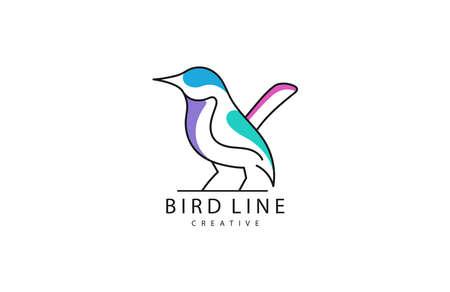 Vector illustration of Bird Logo design