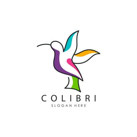 Vector illustration of Cilibri bird logo Stock Illustratie