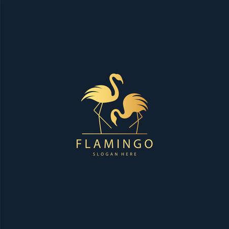 illustration of Flamingo logo design Stockfoto