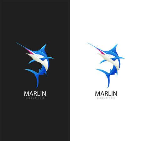 illustration of Marlin fish logo