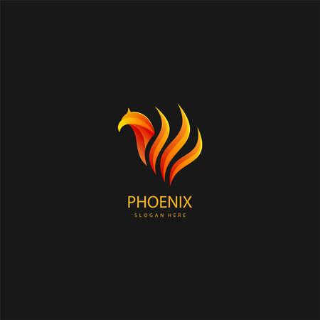 illustration of luxury phoenix logo concept