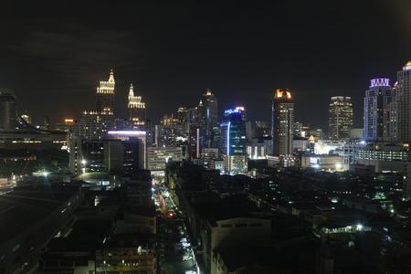 modernization: bangkok city night view