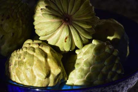 detail of earl fruit ande custard apple