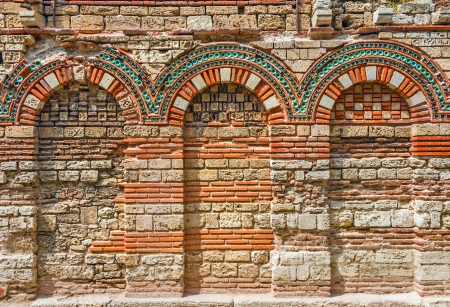 niche: Ancient wall with arch found on Nessebar, Bulgaria