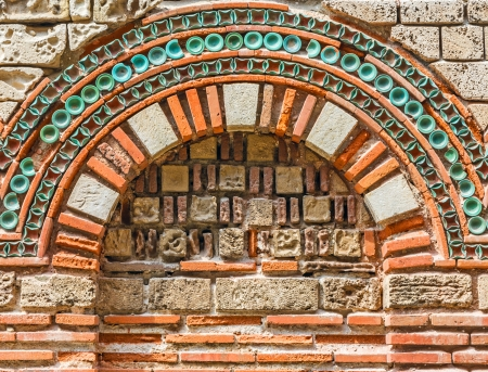 Ancient wall with arch found on Nessebar, Bulgaria, close-up Stock Photo - 22874476