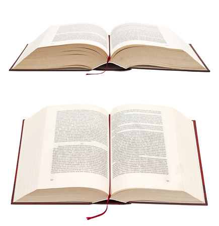 big bible: Open book isolated on white background. Holy Bible.