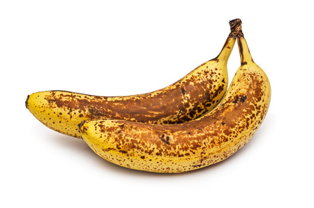overripe: Overripe two bananas. Banana expired.  Stock Photo