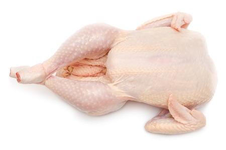 クリッピング パスを焙煎白地準備に分離された鶏の刺身