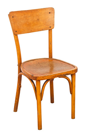 antique chair: Antique wooden chair isolated