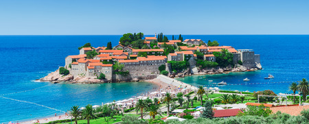 sveti: Sveti Stefan island. Montenegro, mediterranean sea.