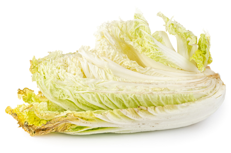 Rotten napa cabbage isolated on white background. Imagens