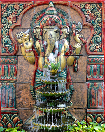 statuary: Pikanes   elephant - headed god Stock Photo