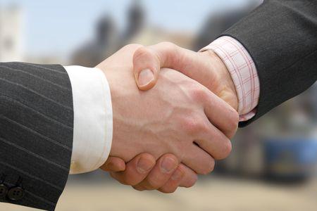 reuniones empresariales: Negocios Handshake
