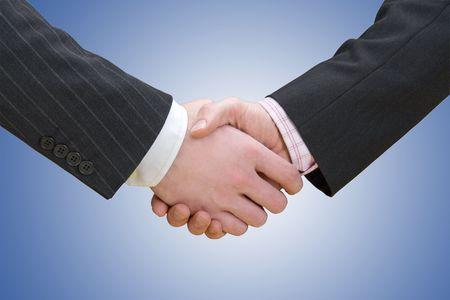 persuasion: Businessmen Shaking Hands Stock Photo