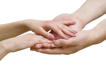 Hands touch Stock Photo - 4776215