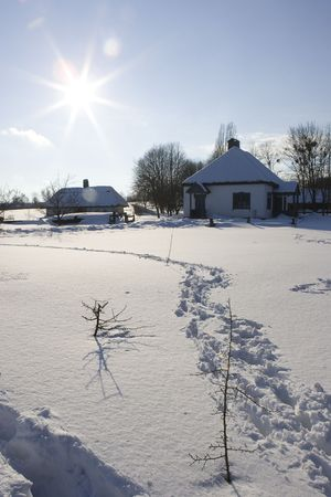 Winter scene - perfect place to have a white Christmas or to celebrate the New Year photo