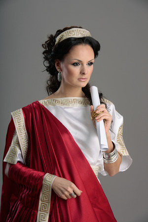 Neo-Classical women like goddess in Roman clothing. Stock Photo