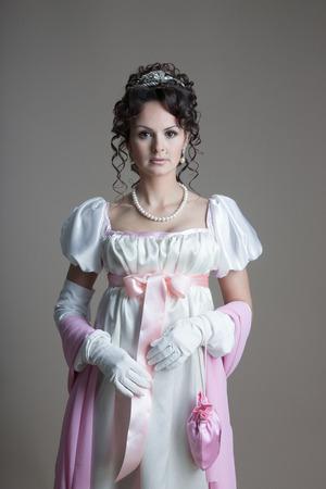 the renaissance: History of fashion design - 19th century, Empire Stock Photo
