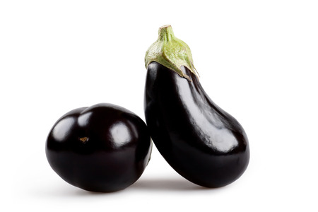 eggplant isolated on a white background photo