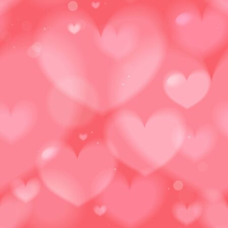 Romantic gentle blurred seamless background  hearts, vector Иллюстрация