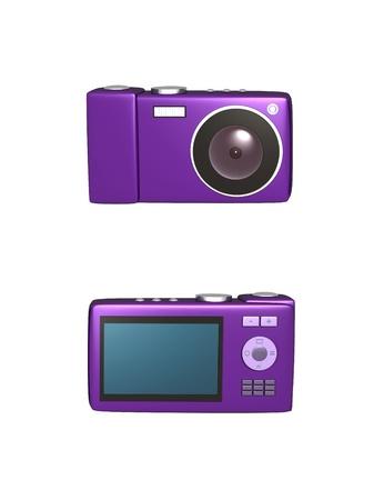 Digital camera.  This is an 3D-illustration digital camera.
