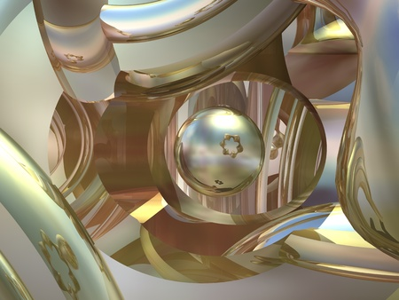 desktop wallpaper: Goldish metal abstract background. Muted color fades.