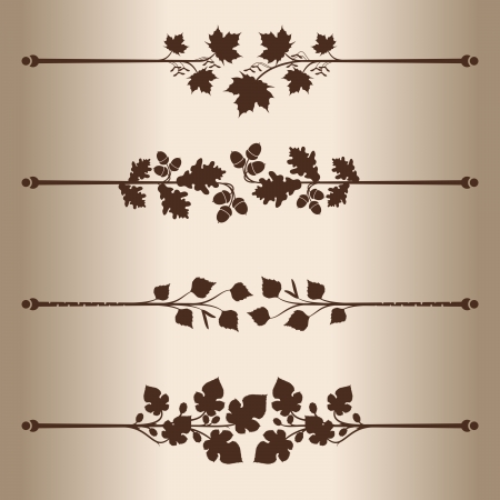 Decorative lines  Elements for design - decorative line dividers  Floral Pattern  Vector illustration    Vector