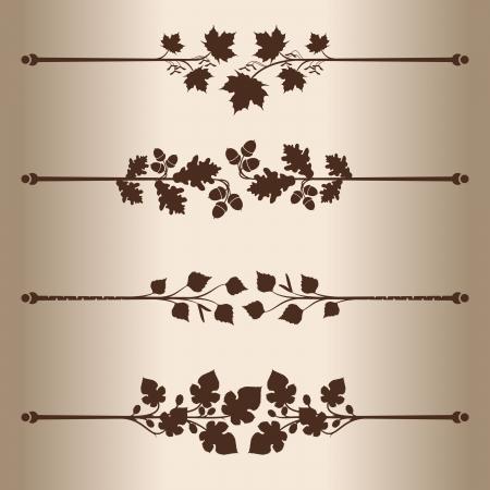 dividing: Decorative lines  Elements for design - decorative line dividers  Floral Pattern  Vector illustration    Illustration