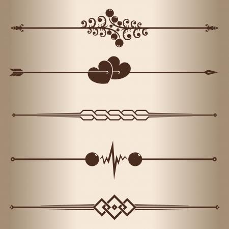 Decorative lines  Elements for design - decorative line dividers    Stock Vector - 16269768