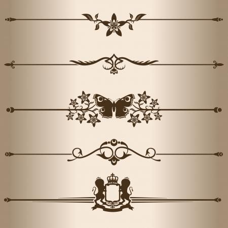 dividing lines: Decorative lines  Elements for design - decorative line dividers  Vector illustration