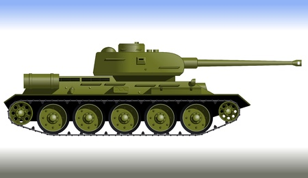 second world war: Tracked tank  Track tank from the Second World War  Fighting vehicle    Illustration