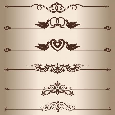 scheidingslijnen: Decoratieve lijnen Elementen voor ontwerp - decoratieve lijnverdelers