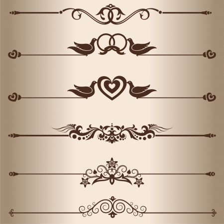 Decorative lines  Elements for design - decorative line dividers   Stock Vector - 18876289