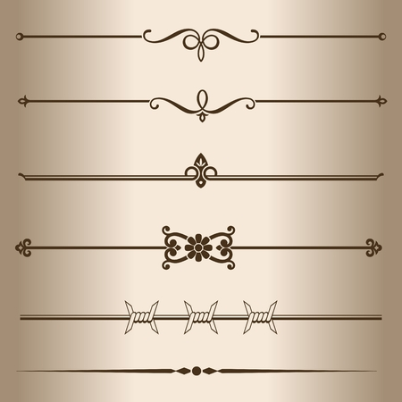 barbwire: Decorative lines  Elements for design - decorative line dividers  Vector illustration
