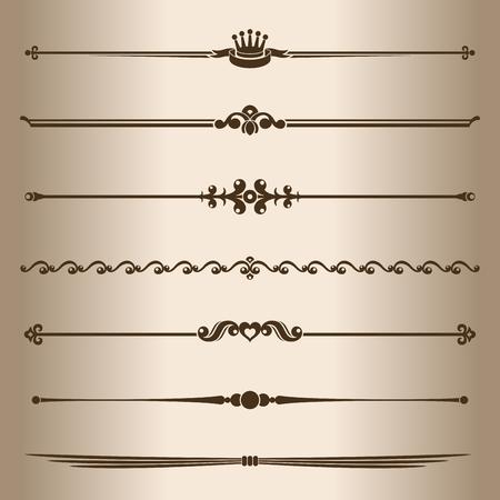 dividing: Decorative lines  Elements for design - decorative line dividers  Vector illustration