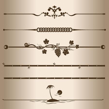 Decoratieve lijnen Elementen voor ontwerp - decoratieve lijn verdelers Vector illustratie