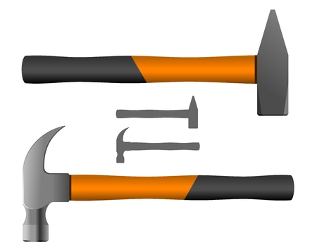 sledgehammer: Hand Tools  Hand Tools - Two Different Types Hammers   Vector illustration  Illustration